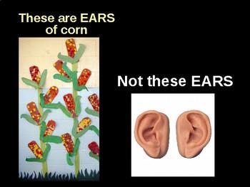 Kinder Corn Homonym/Homophone Art PPT