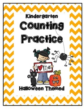 CGI Math: Counting Warm-ups for Kinder--Halloween Themed