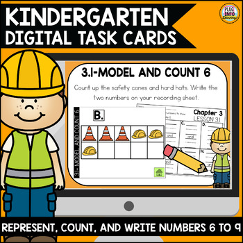 Go Math Kindergarten Digital Task Cards-Represent,Count,Read, and Write Numbers