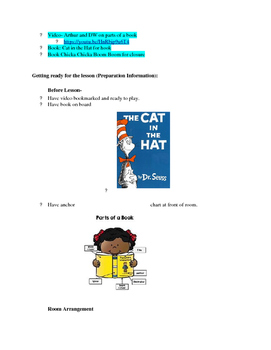 Kinder ELA: parts of a book- Weather