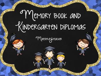 Kinder End of The year graduation diploma & memory book bilingual