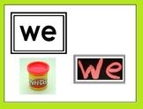 Kinder English High Frequency Word Playdough cards ELA
