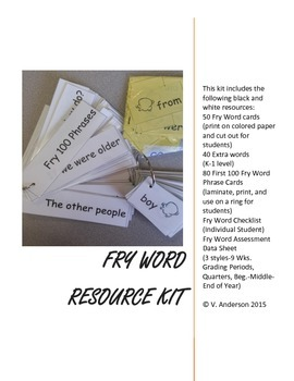 FRY First 50 Popcorn Words Resource Kit