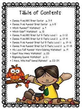 Kinder Fall Fun Pack: Halloween & Autumn Themed Printables, Centers, and Games.