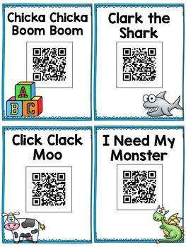 Kinder Favorites: 20 QR Code Stories for Listen to Reading in Kindergarten