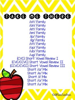 || Short Vowel Fill Me In || [word family fill in the blanks]
