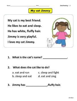 1st Grade Reading Passages
