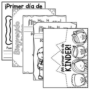 Kinder First Week No Prep Worksheets - SPANISH