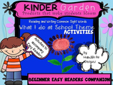 FREEBIE~Kinder Garden: Companion to BEGINNER What I do at School Easy Readers