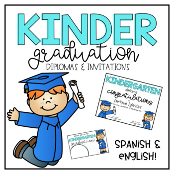 Kinder Graduation Diploma and Invitation- Editable