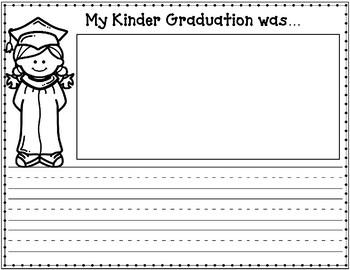 Kinder Graduation Journal