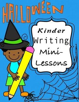 Halloween Kinder Writing Mini Lessons: Using Pre-Primer Si