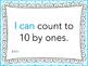 """Kinder """"I can"""" MATH Learning Target Printables - Blue"""