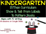 Writers WorkshopKinder If/Then Unit: Show and Tell: From Labels to Pattern Books