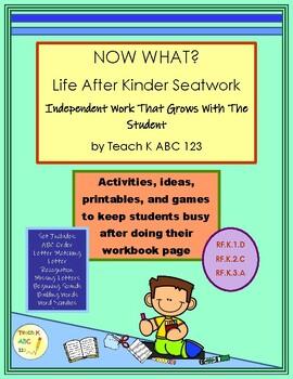 Kinder Independent Work: Life After Seat Work