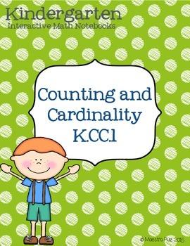 Kindergarten Interactive Math Notebook K.CC.1