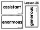 JOURNEYS : Kinder Oral Language Unit 6: Lessons 26-30
