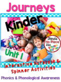 Journeys: Kinder Unit 1 Interactive Phonics Notebook