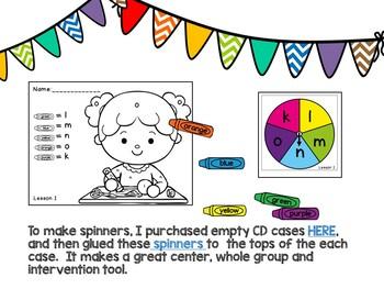 Kinder JOURNEYS Unit 1 Spinner Activities