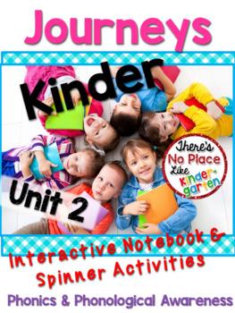 Kinder JOURNEYS Unit 2 Phonics Interactive Notebook