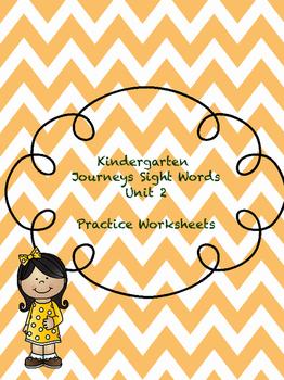 Kinder Journeys Sight Words Unit 2