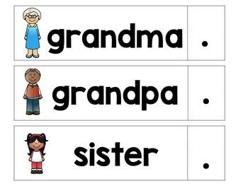 Kinder Journeys Lesson 1: Pocket Chart Writing Activity
