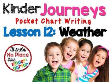 Kinder Journeys Lesson 12: Pocket Chart Writing Activity