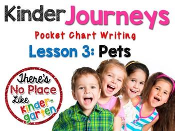 Kinder Journeys Lesson 3: Pocket Chart Writing Activity