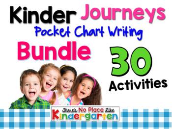 Kinder Journeys Pocket Chart Writing BUNDLE
