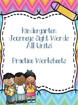 Kinder Journeys Sight Words ALL UNITS!! {88 words}
