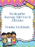 Kinder Journeys Sight Words ALL UNITS!! {88 words}