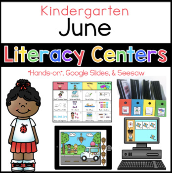 Kinder June Literacy Centers