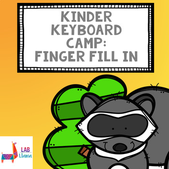 Kinder Keyboard Camp: Finger Fill In Worksheet