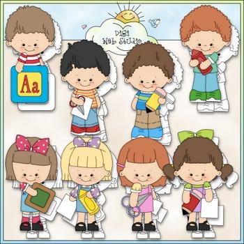 Kinder Kiddies Clip Art - Kindergarten Clip Art - School - CU Clip Art & B&W