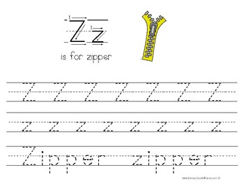 Kinder Kids - Letter Zz Bundle
