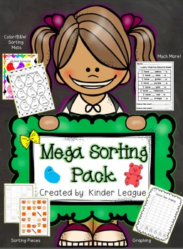 Kinder League Mega Sorting Pack for Pre K- TK- and Kinder Students