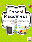 School Readiness Pack for Pre K- TK- and Kinder by Kinder League