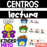 Kinder Literacy Centers Spanish - Centros de Lectura para Kinder