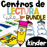 Kinder Literacy Centers in Spanish BUNDLE - Centros de lectura Kinder BUNDLE