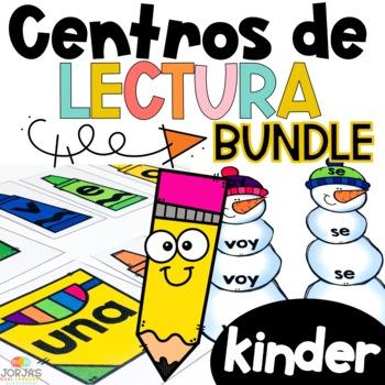 Kinder Literacy Centers in Spanish BUNDLE - Centros de lectura Kinder BUNDLE