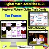 Kinder Math 10 FRAMES Hidden Picture Activities Number 0-20 Digital Tasks