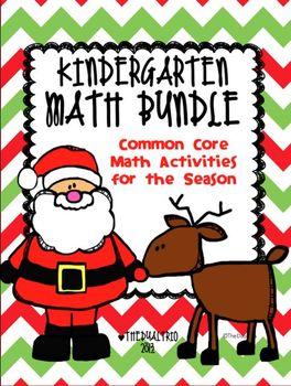 Kinder Math Activities Bundle (Common Core Aligned)