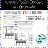 Kinder Math Center- Spanish