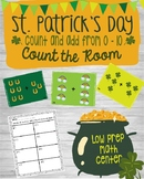 Kinder Math Center - St. Patrick's Day Count The Room - Ad