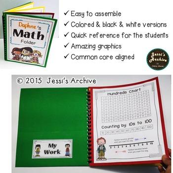 Kinder Math Folder