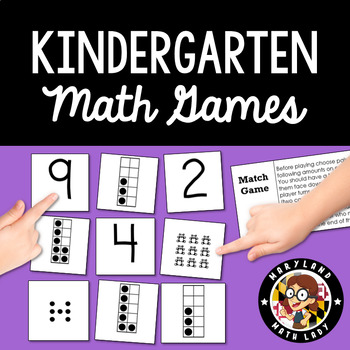 Kinder Math Game Collection with Game Cards