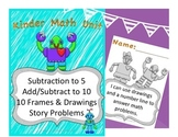 Kinder Math: Introduce Subtraction, Subtract and Add withi