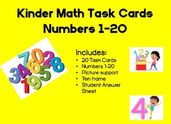 Kinder Math Number Quantity Task cards