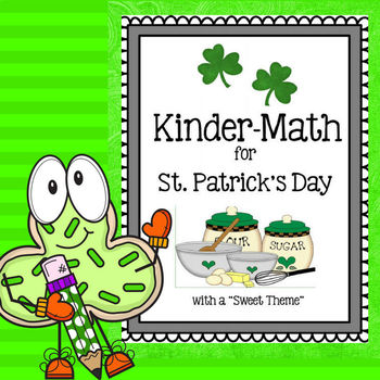 Kindergarten Math for St. Patrick's Day with a Sweet Food theme
