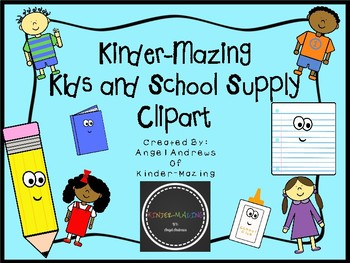 Kinder-Mazing Kids and School Supply Clipart